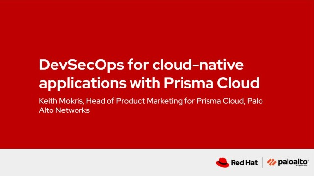 DevSecOps for cloud-native applications with Prisma Cloud