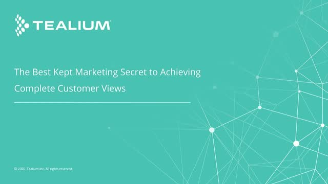 The Best Kept Marketing Secret to Achieving Complete Customer Views