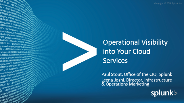 Operational Visibility into Your Cloud Services