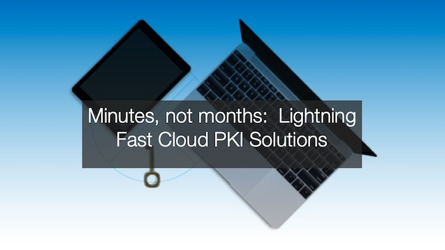 Minutes, not months: lightning fast cloud PKI solutions (EMEA)