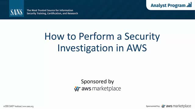 How to Perform an Investigation in AWS