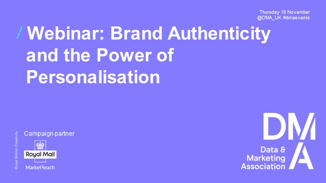 Webinar: Brand Authenticity and the Power of Personalisation