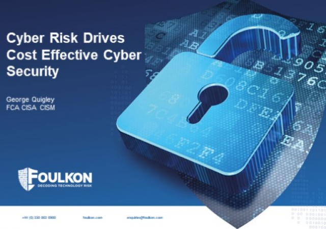 Cyber Risk Drives Cost Effective Security