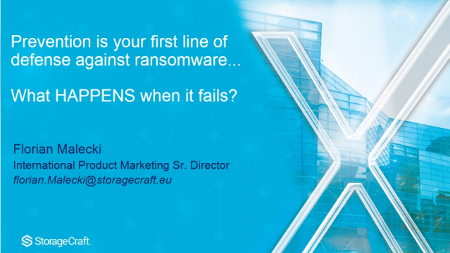 Prevention is your first line of defense. What HAPPENS when it fails?