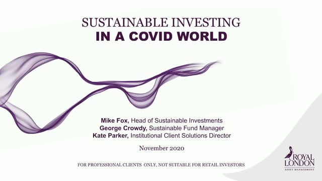 Sustainable investing in a Covid world