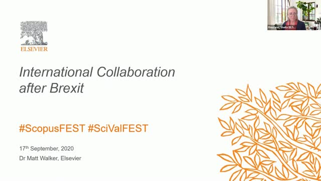 #SciValFest2020 - International Collaboration after Brexit