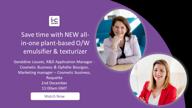 Save time with NEW all-in-one plant-based O/W emulsifier & texturizer