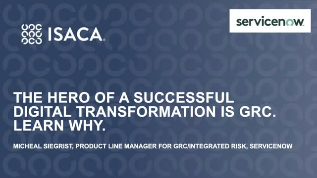 The Hero of a Successful Digital Transformation is GRC