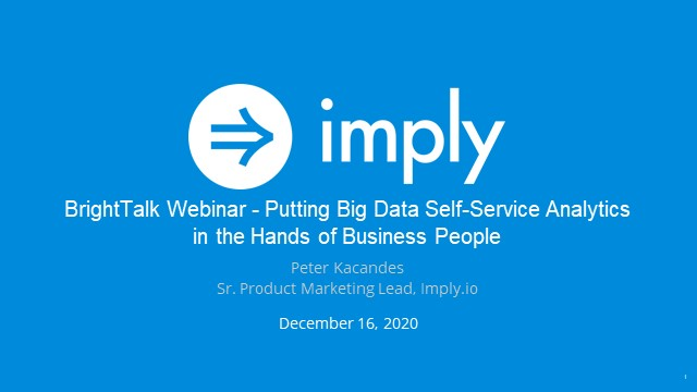 Putting Big Data Self-Service Analytics in the hands of Business People