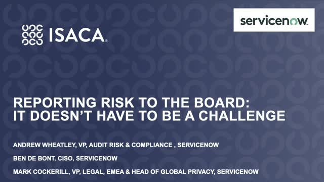 Reporting risk to the board: It doesn't have to be a challenge