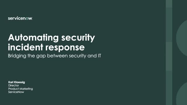 Automating Security Incident Response Helps Bridge the Gap with IT and Security