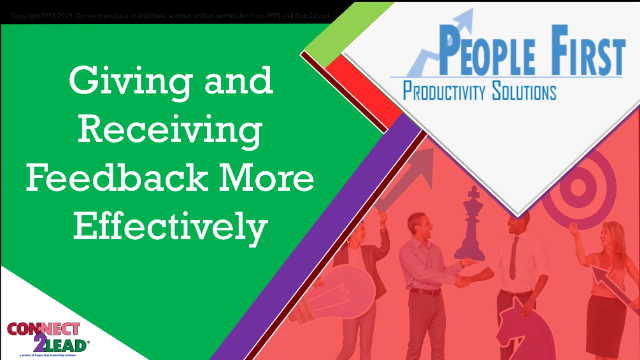 Giving & Receiving Feedback (without defensiveness!)