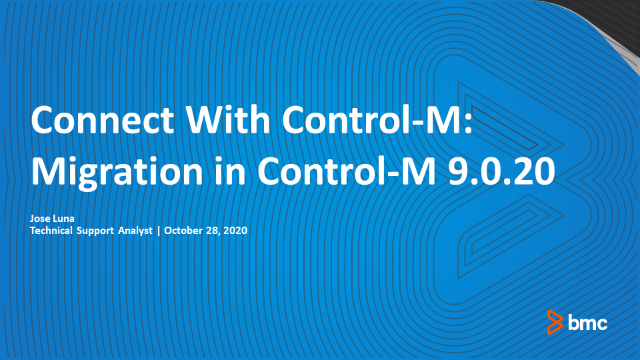 Connect With Control-M: Migration in Control-M 9.0.20