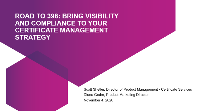 Bring visibility and compliance to your certificate management strategy