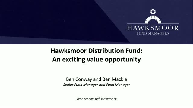 Hawksmoor Distribution Fund: An Exciting Value Opportunity