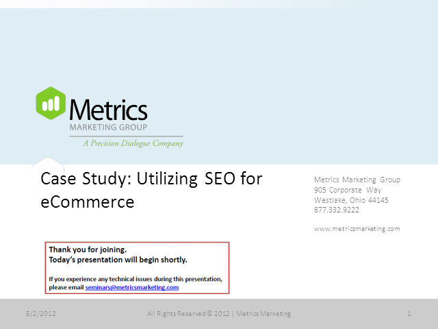Case Study: Utilizing SEO for eCommerce