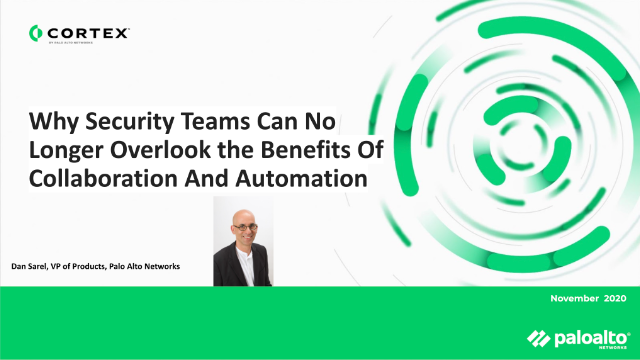 Why can't security teams overlook the benefits of Collaboration & Automation?