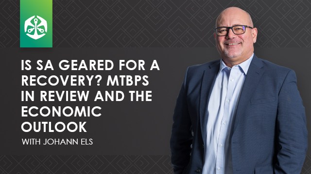 Is SA geared for a recovery? MTBPS in review and the economic outlook