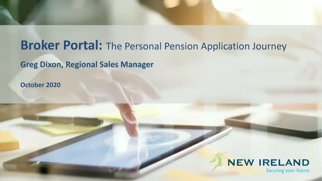 Broker Portal: The Personal Pension Application Journey