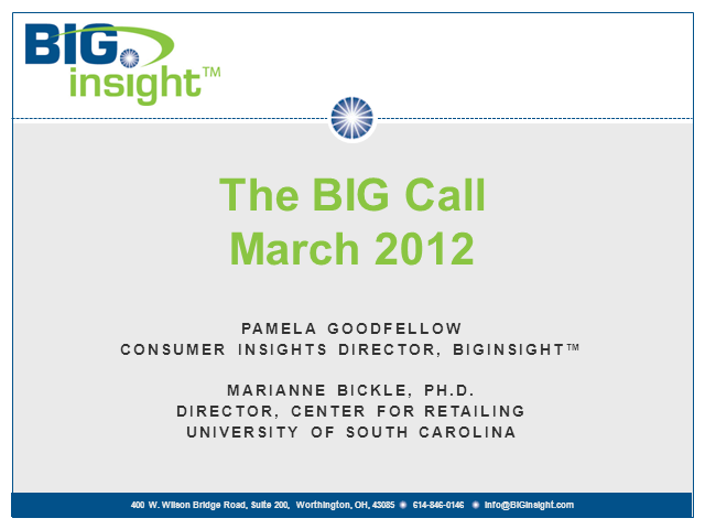 BIG Call - March 2012