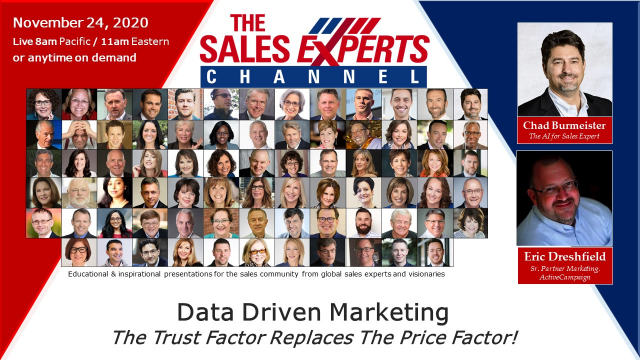 Data Driven Marketing - The Trust Factor Replaces The Price Facto
