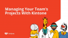 How To Manage Your Team's Projects With Kintone