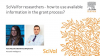 SciVal for researchers - how to use available information in the grant process?