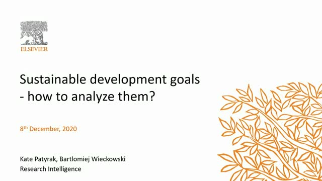 Sustainable development goals - how to analyze them?