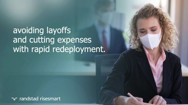 Avoiding layoffs and cutting expenses with rapid redeployment