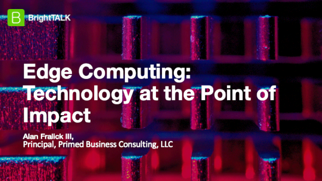 Edge Computing:Technology at the Point of Impact