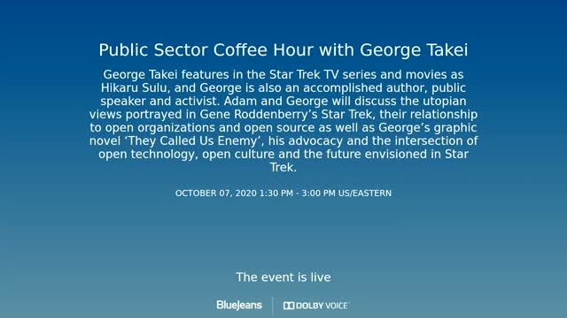 Red Hat Coffee Hour - George Takei