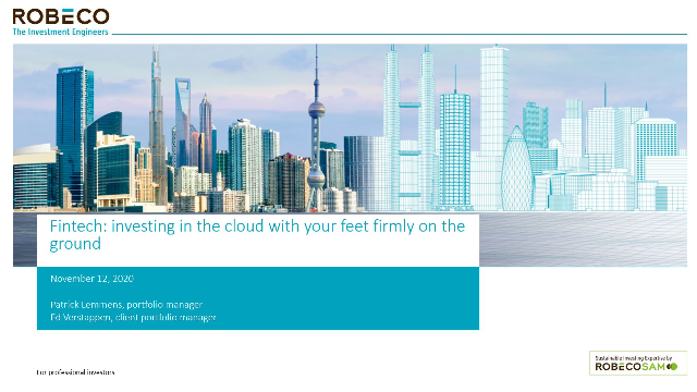 Fintech: investing in the cloud with your feet firmly on the ground