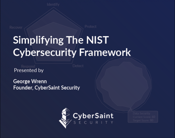 Simplifying The NIST Cybersecurity Framework
