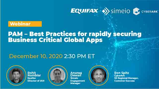 PAM – Best Practices for rapidly securing Business Critical Global Apps