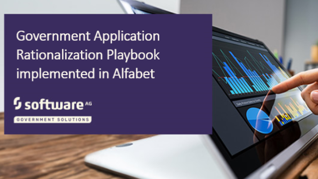 Government Application Rationalization Playbook implemented in Alfabet