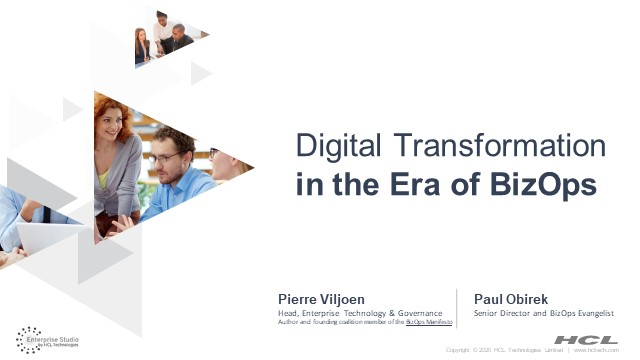 Digital Transformation in the Era of BizOps: From Choice to Imperative