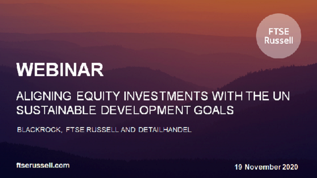 Aligning equity investments with the UN Sustainable Development Goals