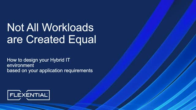 Not All Workloads are Created Equal