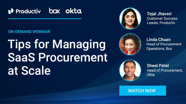 Tips for Managing SaaS Procurement at Scale