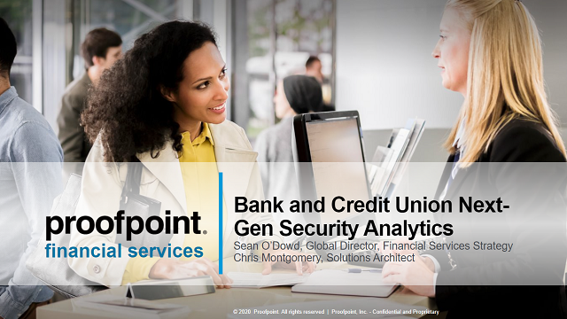 Bank and Credit Union Next-Gen Security Analytics