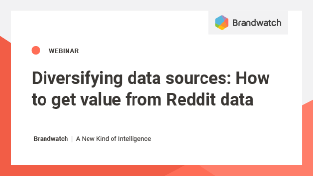 Diversifying data sources: How to get value from Reddit data