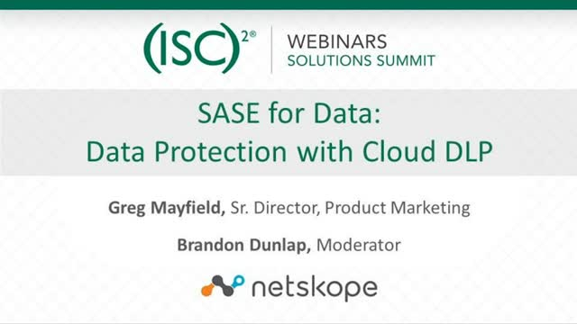 Netskope 3 - SASE for Data - Data Protection with Cloud DLP