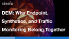 DEM: Why Endpoint, Synthetics, and Traffic Monitoring Belong Together