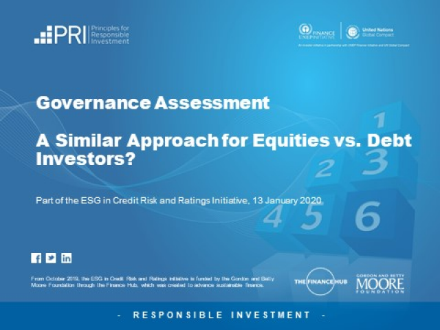Governance Assessment: A Similar Approach for Equities vs. Debt Investors?