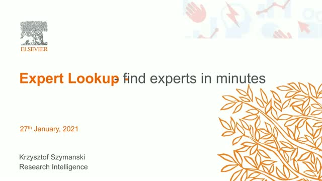 Expert Lookup - find experts in minutes
