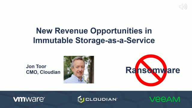 New Revenue Opportunities in Immutable Storage-as-a-Service