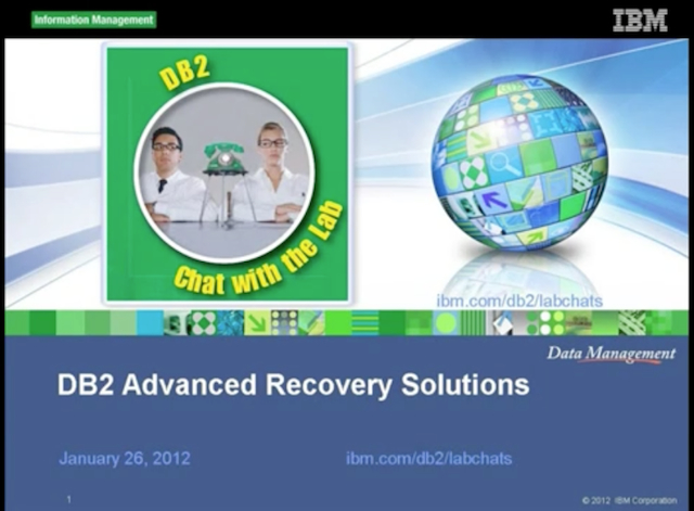 DB2 Tech Talk: DB2 Advanced Recovery Solutions