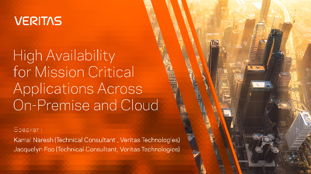High Availability for Mission Critical Applications Across On-Premise and Cloud