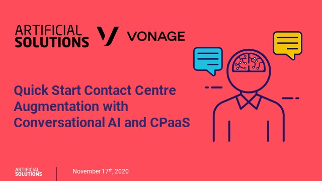 Quick Start Contact Centre Augmentation with Conversational AI and CPaaS