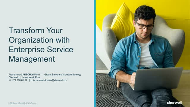 Transform Your Organization with Enterprise Service Management